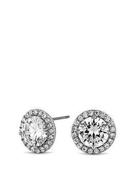 jon-richard-jon-richard-silver-cubic-zirconia-halo-stud-earring
