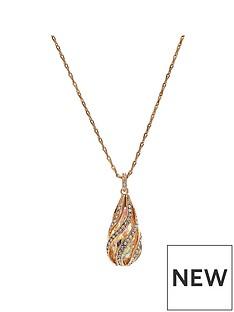 jon-richard-rose-gold-cage-pendant