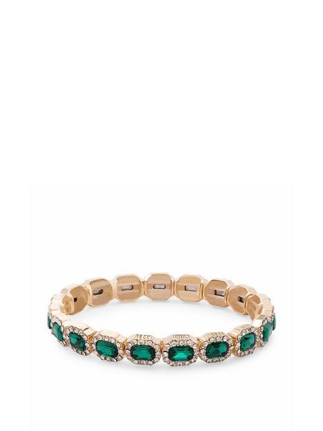 jon-richard-jon-richard-gold-crystal-and-emerald-rectangle-stretch-bracele