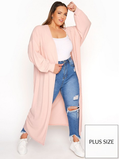 yours-yours-limited-long-cardi-pink