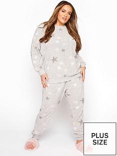 yours-yoursnbspstar-fleece-lounge-set-pinkgrey