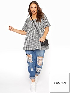 yours-yours-limited-square-neck-gingham-top-blacknbsp