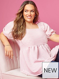 yours-yours-limited-square-neck-gingham-top-pinknbsp