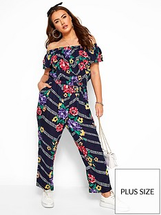 yours-yours-floral-zig-zag-bardot-jumpsuit-navy