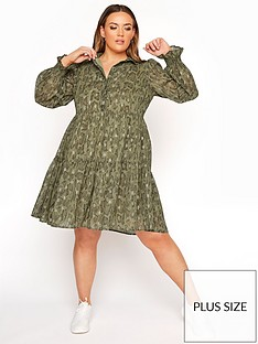 yours-yours-limited-tiered-dressnbsp--green