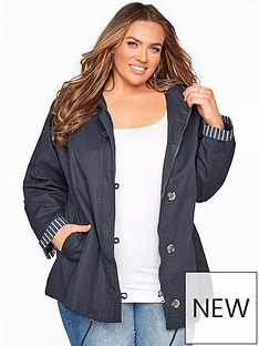 yours-yours-twill-parka-contrast-lining-navy