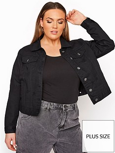 yours-yours-denim-distressed-jacket-black