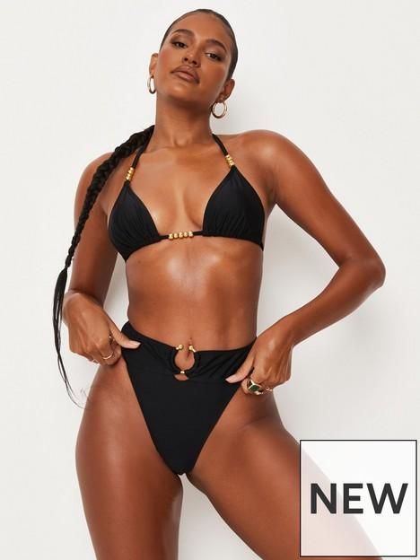 missguided-missguided-gold-bead-triangle-bikini-top-black