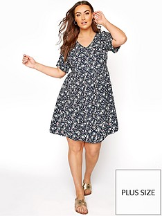 yours-yours-button-front-peplum-dress-navy