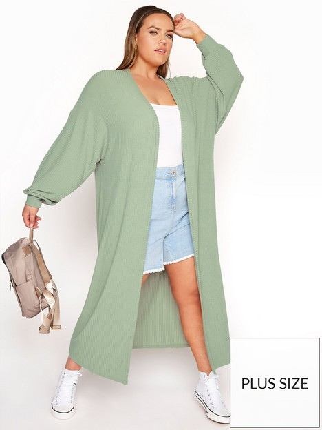 yours-yours-limited-long-cardi-green