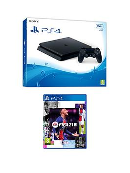 playstation-4-ps4-black-500gb-console-with-fifa-21-and-optional-extras
