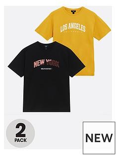 new-look-boysnbspoversized-collegiate-2-pack-t-shirts-mustard-black