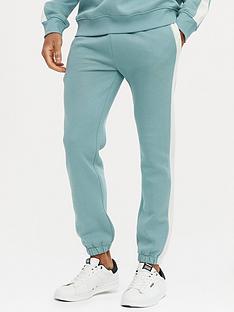 new-look-side-stripe-jogger-light-blue
