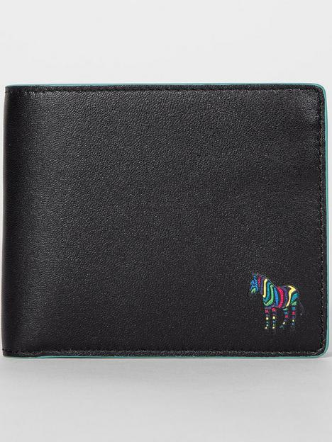 ps-paul-smith-mensnbspzebra-logo-leathernbspcoin-pocket-billfoldnbspwalletnbsp--black