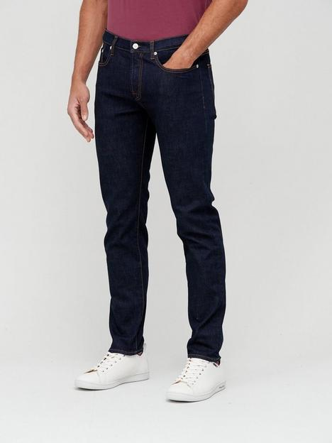 ps-paul-smith-crosshatch-taper-fit-rinse-wash-jeans-indigonbsp