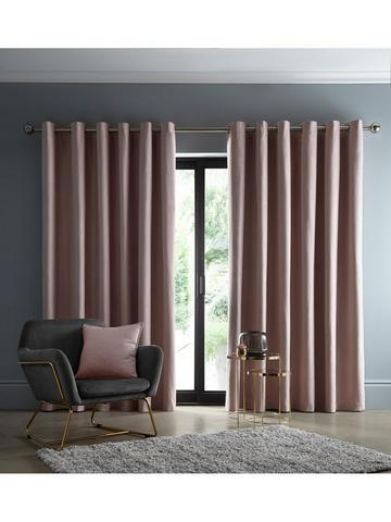 168Wx183Drop House Additions Enchanted Pink Unicorn Eyelet Curtains Pink