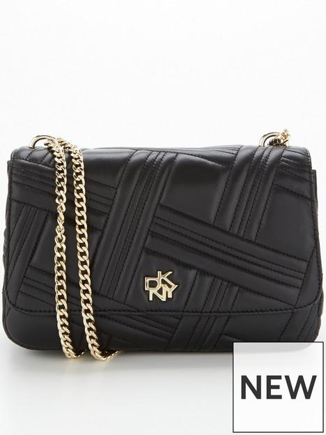 dkny-alice-crossgrid-quilted-large-shoulder-bag-black