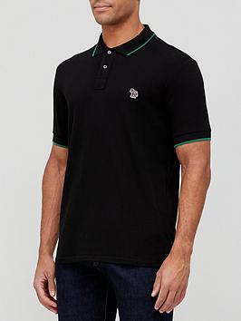 ps-paul-smith-zebra-logo-tipped-collar-polo-shirt-black