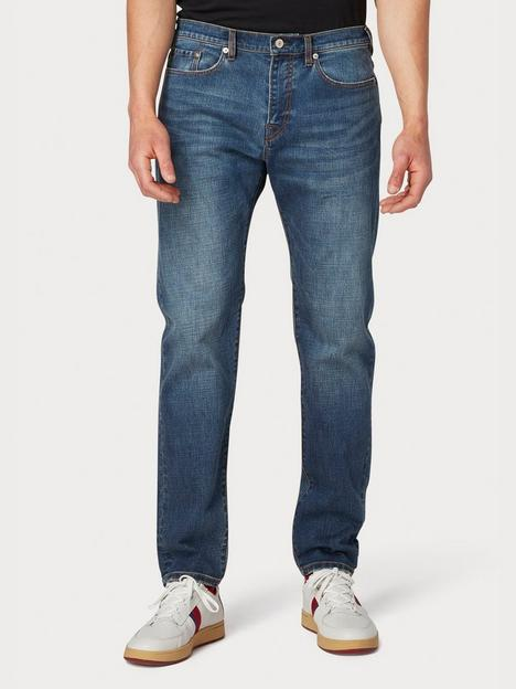 ps-paul-smith-crosshatch-taper-fit-jeans-blue