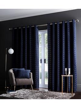 studio-g-lucca-velvet-eyelet-curtainsnbsp