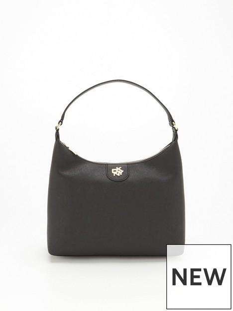 dkny-carol-large-hobo-bag-in-nylon-black