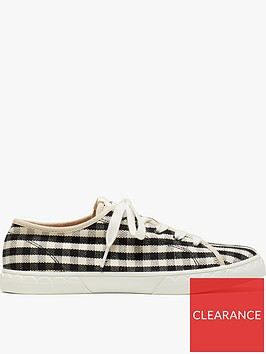 kate-spade-new-york-vale-ginghamnbsplace-up-trainersnbsp--blackwhite