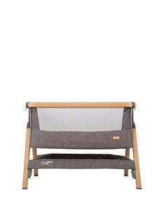 tutti-bambini-cozee-bedside-crib-oak-and-charcoal