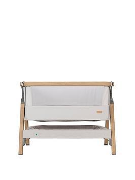 Tutti Bambini Cozee Bedside Crib-Oak/Sterling Silver