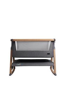 Tutti Bambini Cozee Air Bedside Crib - Oak And Charcoal