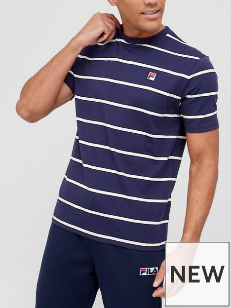fila-felixor-yarn-dye-t-shirt-navywhite