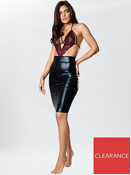 ann-summers-wet-look-zuri-pencil-skirt-black