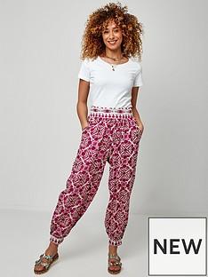 joe-browns-tile-print-trousers-red