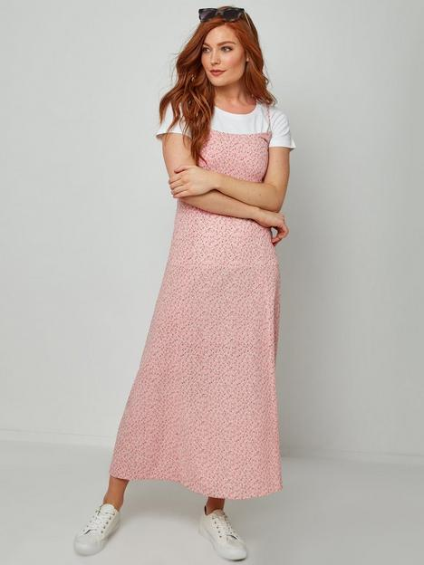 joe-browns-ditsy-floral-dress-pink