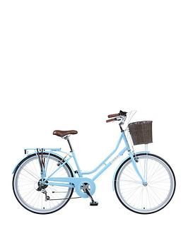 Viking Viking Belgravia Ladies Traditional 26 Inch Wheel 6 Speed Bike 18 Inch Blue�