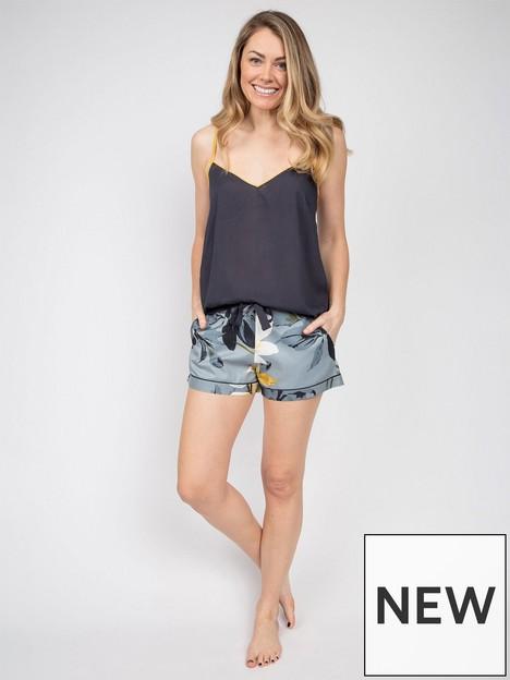 cyberjammies-floral-print-pyjama-shorts-charcoalnbsp