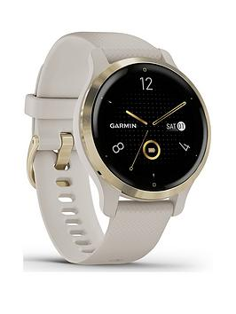 Garmin Venu 2S Gps Smartwatch - Light Gold Bezel With Light Sand Case And Silicone Band