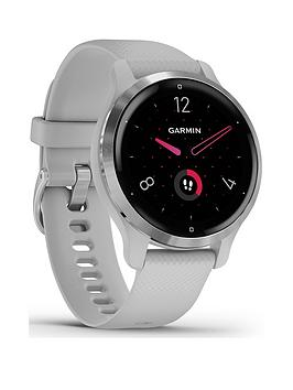 Garmin Venu 2S Gps Smartwatch - Silver Bezel With Mist Grey Case And Silicone Band