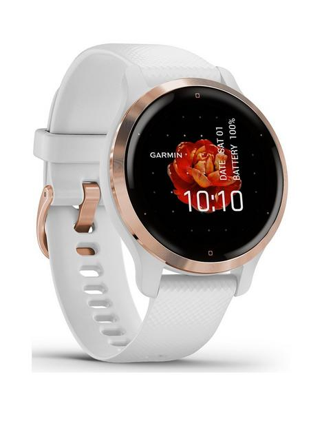 garmin-venu-2s-gps-smartwatch-rose-gold-bezel-with-white-case-and-silicone-band