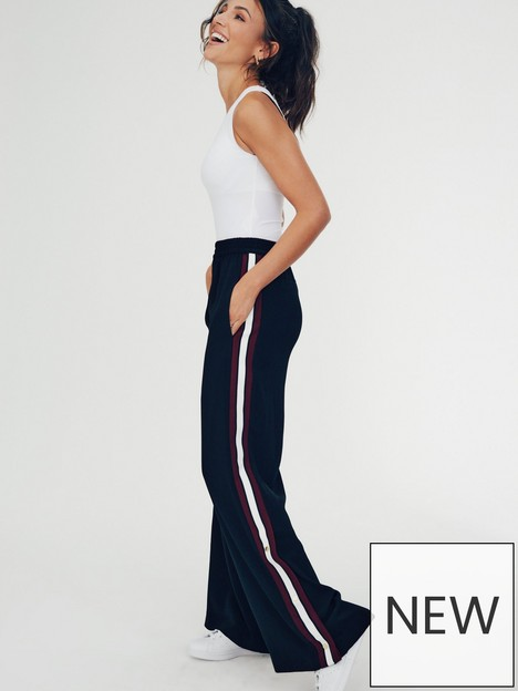 michelle-keegan-side-stripe-crepe-trouser-black