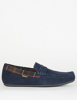 barbour-porterfield-slippers-navynbsp