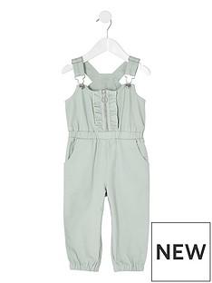 river-island-mini-mini-girls-green-denim-ruffle-front-jumpsuit