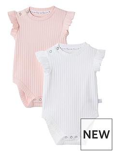 river-island-baby-baby-pink-ribbed-babygrow-2-pack