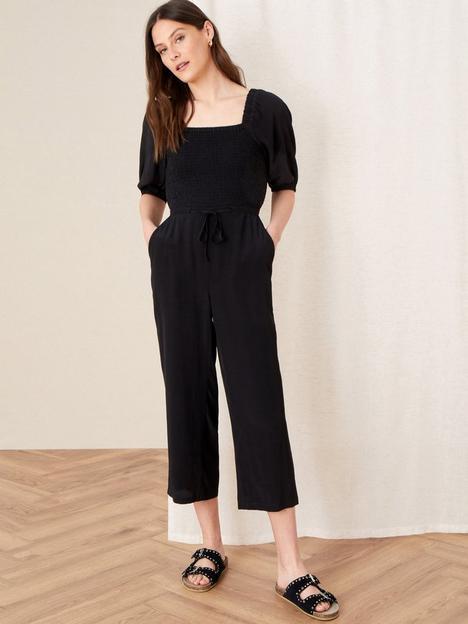 monsoon-fleur-shirred-jumpsuit-black