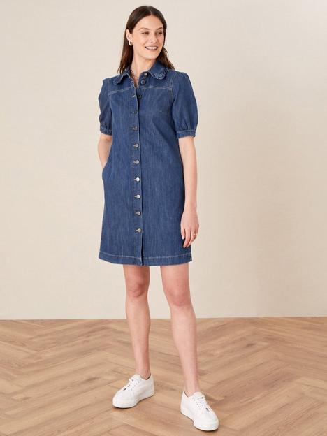 monsoon-ruffle-collar-short-denim-dress