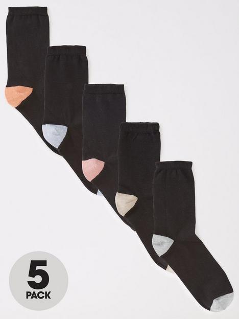 v-by-very-5-pack-heel-toe-ankle-socks-multi