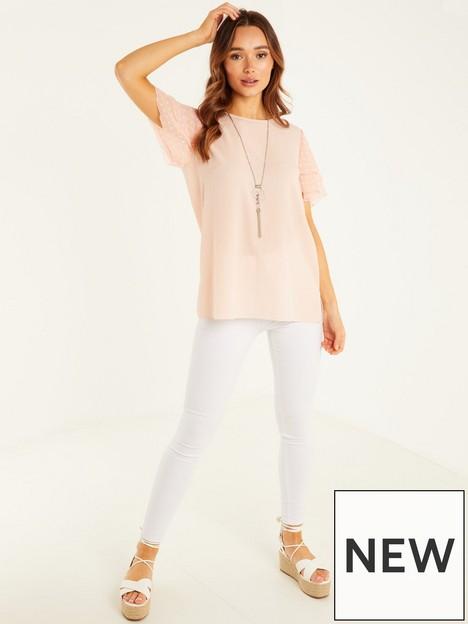quiz-bubble-crepe-chiffon-sleeve-necklace-top-pale-pink