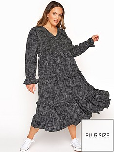 yours-yours-limited-shirred-bust-maxi-frill-dress