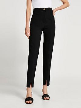 river-island-split-front-cigarette-trouser-black
