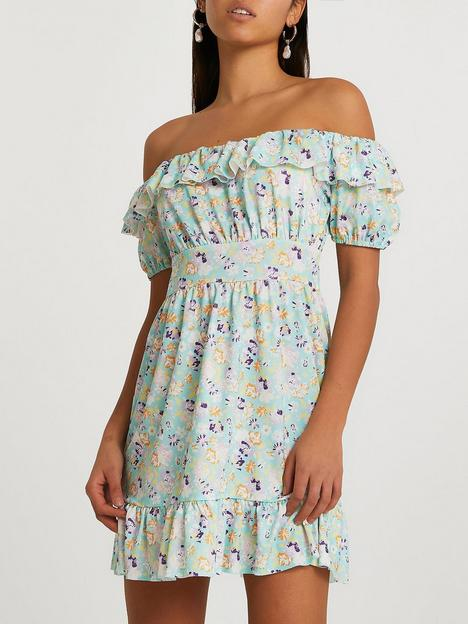 river-island-frill-top-bardot-dress