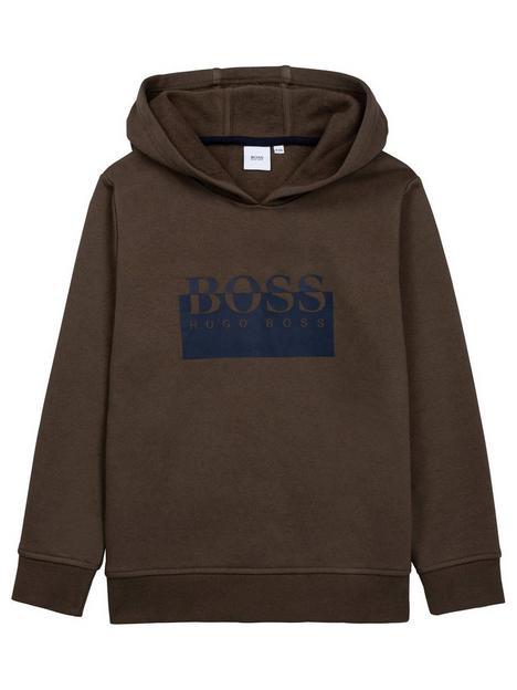 boss-boys-logo-hoodie